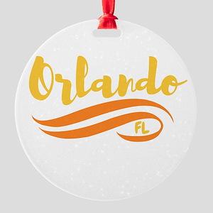 Orlando FL Round Ornament
