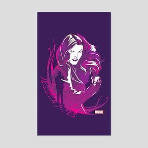 Jessica Jones Purple Sticker (Rectangle)