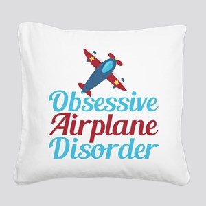 Cool Airplane Square Canvas Pillow