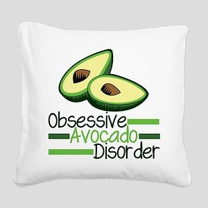 Cute Avocado Square Canvas Pillow