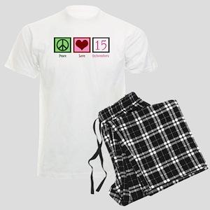 Peace Love Fifteen Men's Light Pajamas