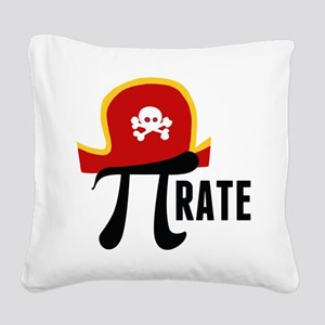 Pi-Rate Square Canvas Pillow