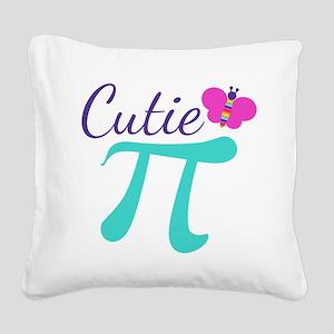 Cutie Pi Square Canvas Pillow