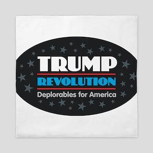 Trump Revolution Deplorables Queen Duvet