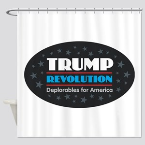 Trump Revolution Deplorables Shower Curtain
