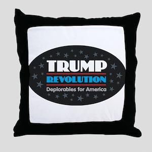 Trump Revolution Deplorables Throw Pillow
