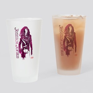 Jessica Jones Silhouette Drinking Glass