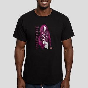 Jessica Jones Silhouet Men's Fitted T-Shirt (dark)