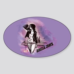 Jessica Jones Purple Sky Sticker (Oval)