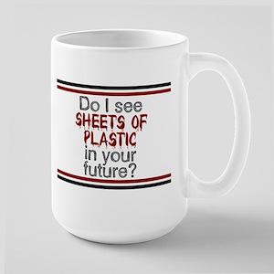 Sheets of Plastic Large Mug