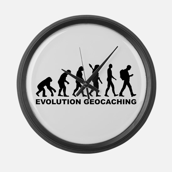 Evolution Geocaching Large Wall Clock
