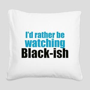 Black-ish Square Canvas Pillow