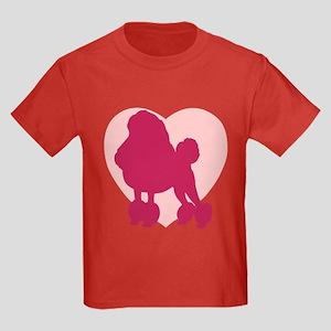 Poodle Valentine's Day Kids Dark T-Shirt