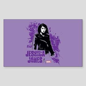 Jessica Jones Fragmented Purpl Sticker (Rectangle)