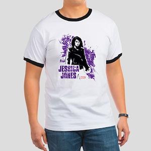 Jessica Jones Fragmented Purple Ringer T