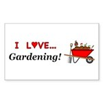 I Love Gardening Sticker (Rectangle 10 pk)
