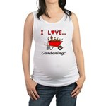 I Love Gardening Maternity Tank Top
