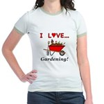 I Love Gardening Jr. Ringer T-Shirt
