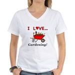 I Love Gardening Women's V-Neck T-Shirt