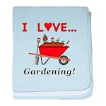I Love Gardening baby blanket