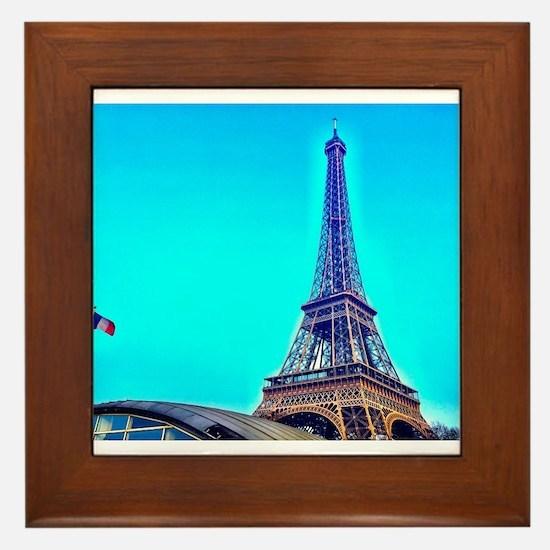Cool Paris eiffel tower Framed Tile