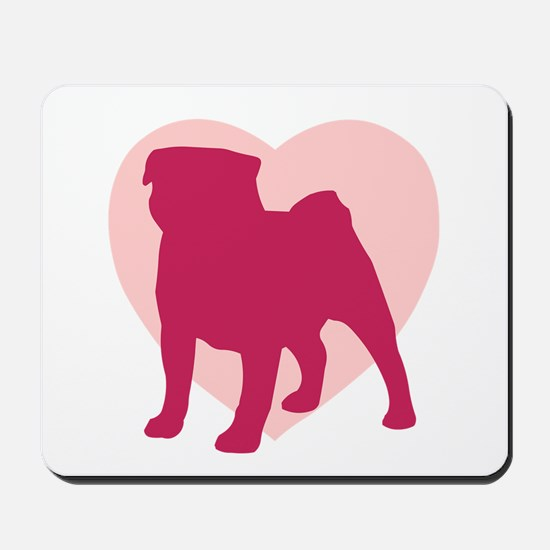 Pug Valentine's Day Mousepad