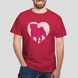 Pug Valentine's Day Dark T-Shirt