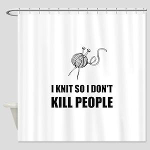 Knit Kill People Shower Curtain