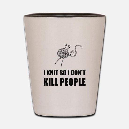 Knit Kill People Shot Glass