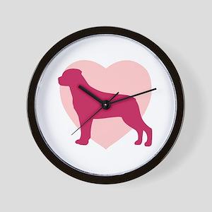 Rottweiler Valentine's Day Wall Clock