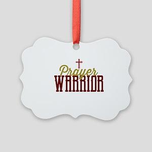 Prayer Warrior Picture Ornament
