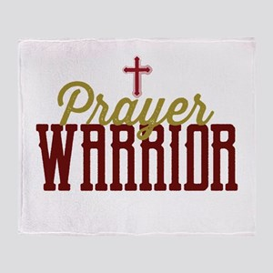 Prayer Warrior Throw Blanket