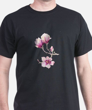 Graceful Branch with Pink Magnolias T-Shirt
