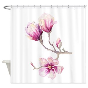 Magnolia Tree Shower Curtains