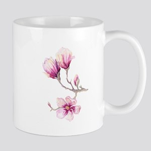 Graceful Branch with Pink Magnolias Mugs