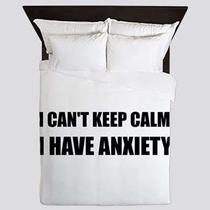 Keep Calm Anxiety Queen Duvet