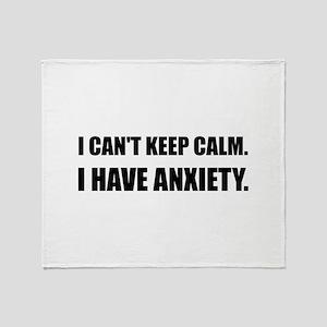 Keep Calm Anxiety Throw Blanket