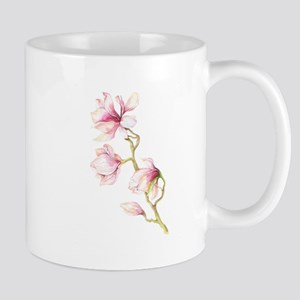 Four Pink Magnolia Blossoms on a Branch Mugs