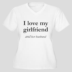 Girlfriend/her husband Women's Plus Size V-Neck T-