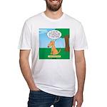 Golden Non-Retriever Fitted T-Shirt