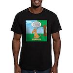 Golden Non-Retriever Men's Fitted T-Shirt (dark)