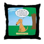 Golden Non-Retriever Throw Pillow