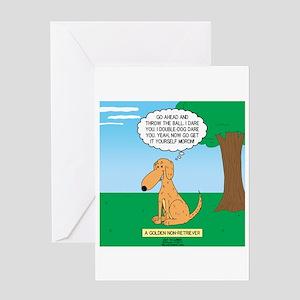 Golden Non-Retriever Greeting Card