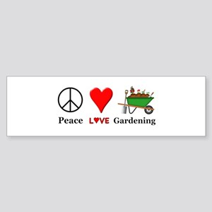 Peace Love Gardening Sticker (Bumper)