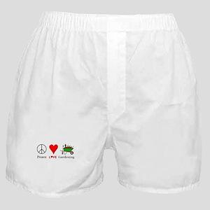 Peace Love Gardening Boxer Shorts