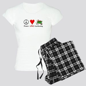 Peace Love Gardening Women's Light Pajamas