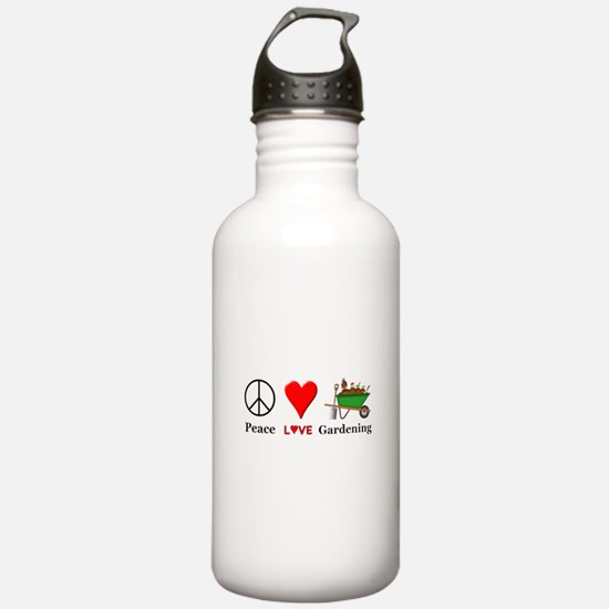 Peace Love Gardening Water Bottle