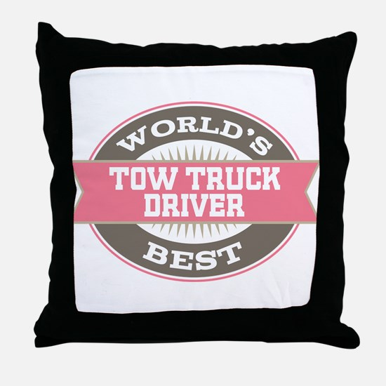 tow truck driver Throw Pillow
