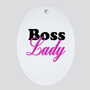 Boss Lady Oval Ornament