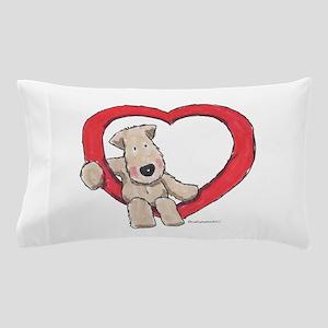 Wheaten Terrier in Heart Pillow Case